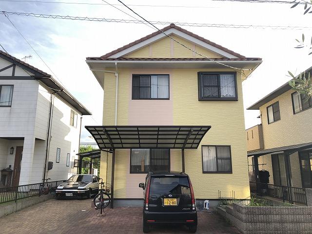 岡山市中区 S様邸 外壁塗装工事 シリコン塗料