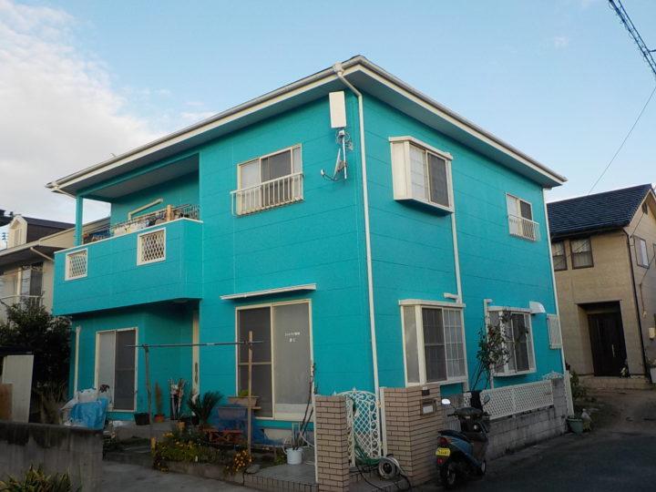 岡山市北区 I様邸 外壁塗装・防水工事  シリコン塗料
