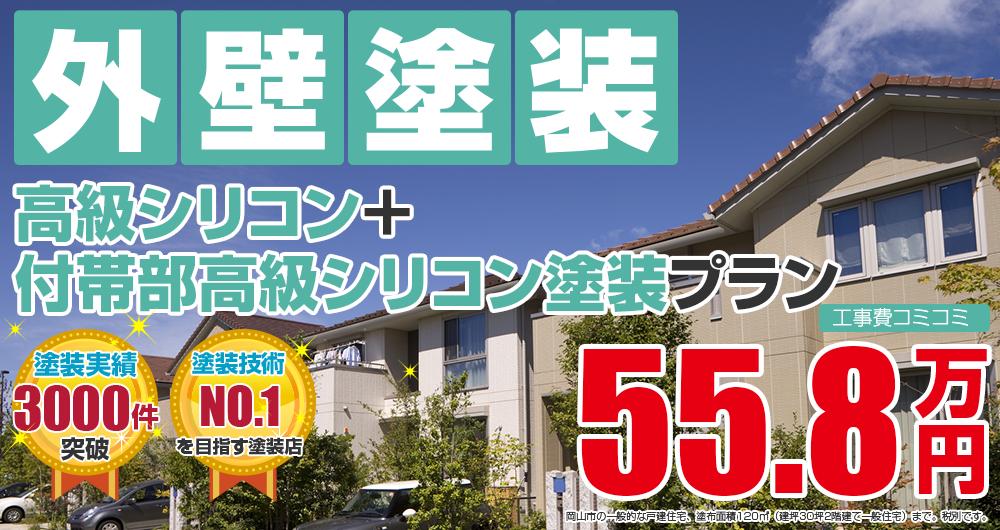 高級シリコン+付帯部高級シリコン塗装 558000万円