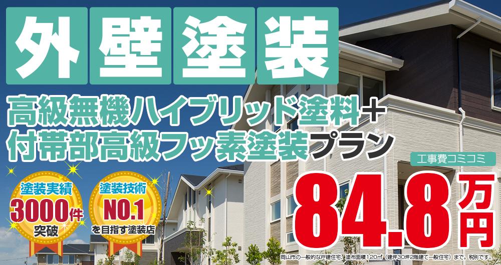 高級無機ハイブリッド+付帯部高級フッ素塗装 848000万円