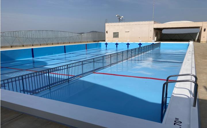 岡山市中区 小学校プール槽塗装工事 公共工事