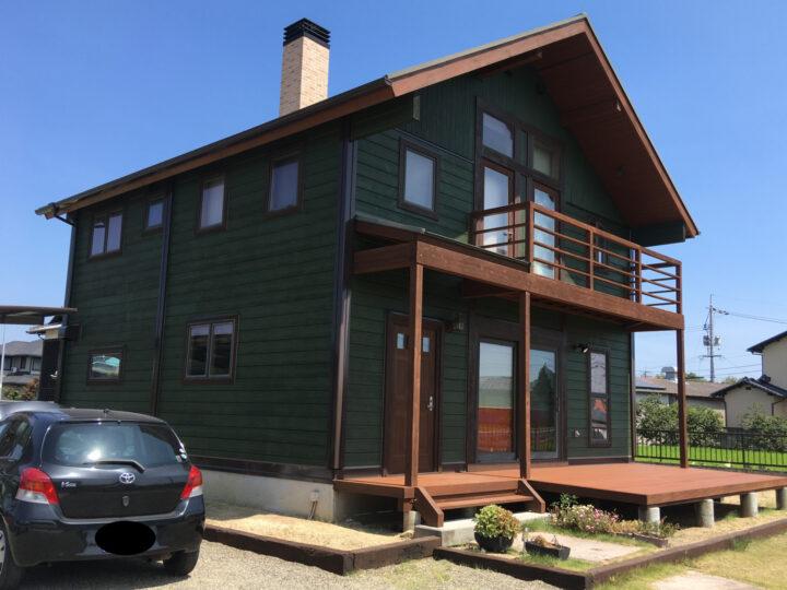 岡山市南区 H様邸 外壁塗装工事  木材保護塗料