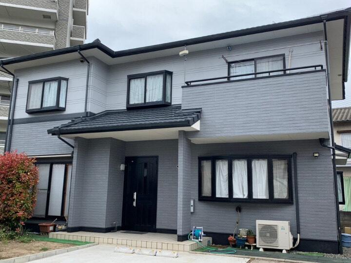 岡山市中区 S様邸 屋根・外壁塗装・防水工事  シリコン塗料