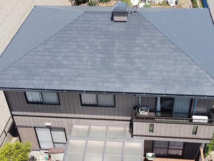岡山市中区 O様邸 屋根塗装・外壁シール工事  シリコン塗料