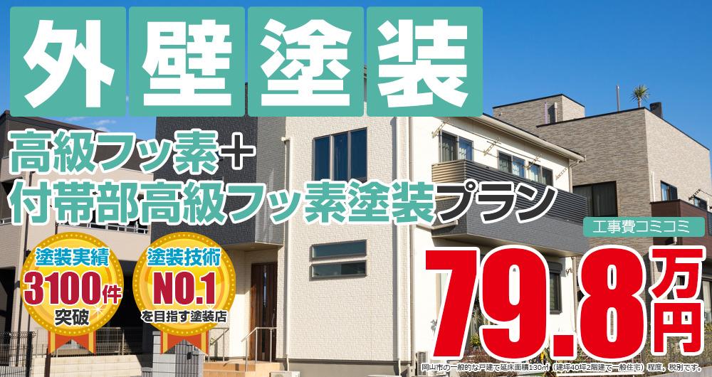 高級フッ素+付帯部高級フッ素塗装 798000万円